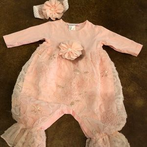 Boutique brand Cachcach 6M Girls outfit / Headband